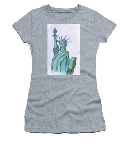 Queen Of Liberty Women's T-Shirt (Junior Cut)
