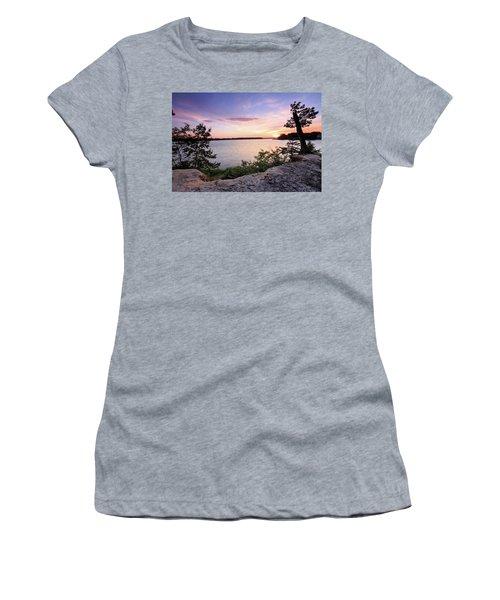 Women's T-Shirt (Junior Cut) featuring the photograph Quiet Sunset by Jennifer Casey