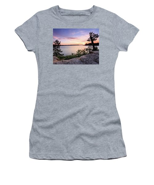 Women's T-Shirt (Junior Cut) featuring the photograph Quiet Waters Crop by Jennifer Casey