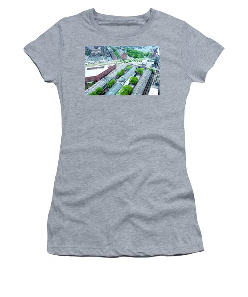 Women's T-Shirt (Junior Cut) featuring the photograph Quincy And Columbus by Greg Fortier