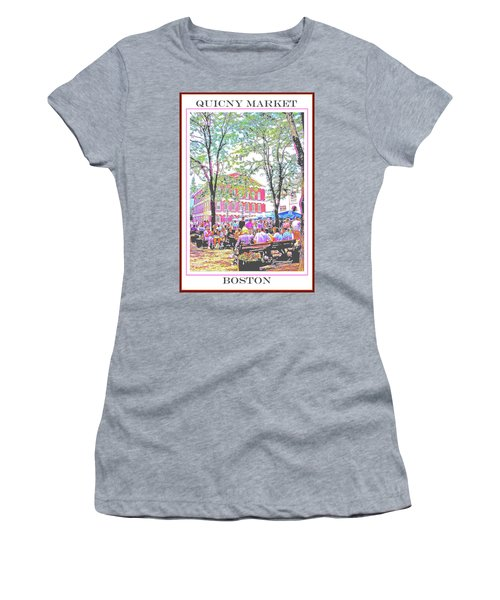 Quincy Market, Boston Massachusetts, Poster Image Women's T-Shirt