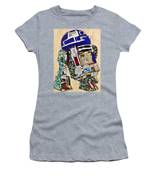 Women's T-Shirt (Junior Cut) featuring the tapestry - textile R2-d2 Star Wars Afrofuturist Collection by Apanaki Temitayo M