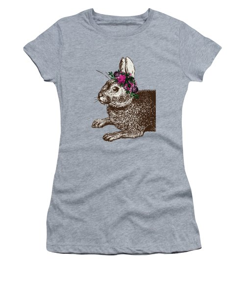 Rabbit And Roses Women's T-Shirt