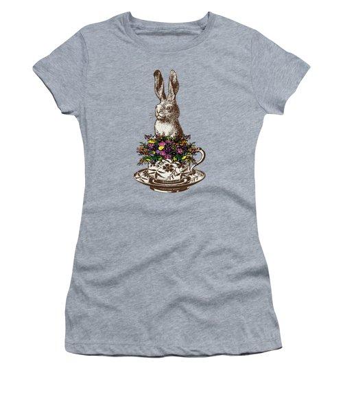 Rabbit In A Teacup Women's T-Shirt