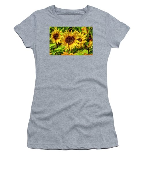 Radiate Love To The World Women's T-Shirt (Athletic Fit)