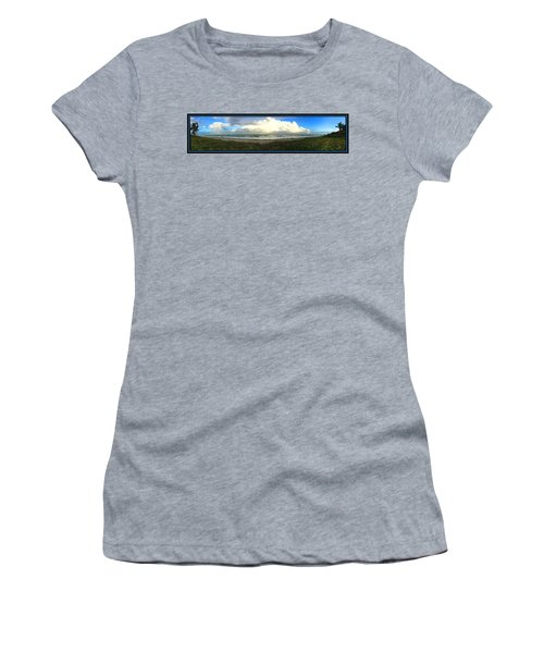 Rain And A Bow Women's T-Shirt (Junior Cut) by Steven Lebron Langston