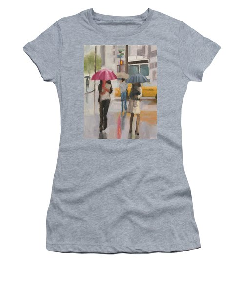 Rain Walk Women's T-Shirt (Athletic Fit)
