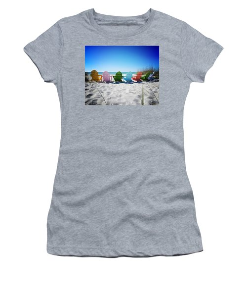 Rainbow Beach Vanilla Pop Women's T-Shirt