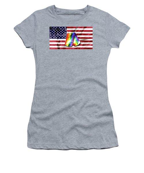 Rainbow Dog Tags Women's T-Shirt