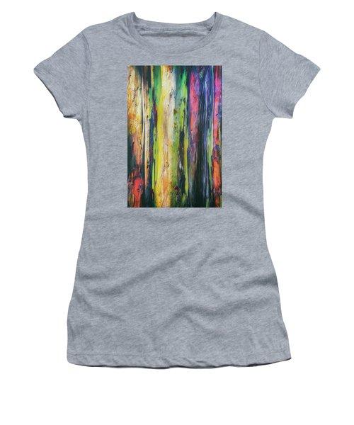 Women's T-Shirt (Junior Cut) featuring the photograph Rainbow Grove by Ryan Manuel