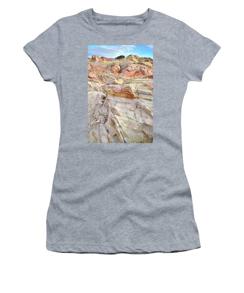 Rainbow Of Color At Valley Of Fire Women's T-Shirt (Junior Cut) by Ray Mathis