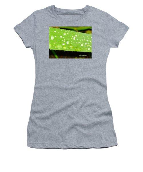 Raindrops On Leaf Women's T-Shirt