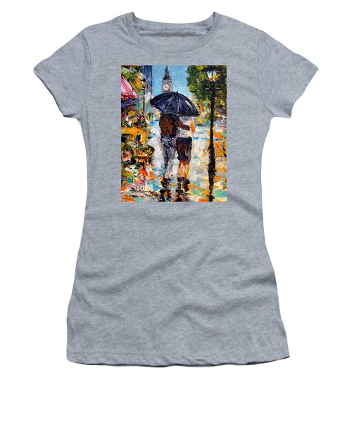 Rainy Day In Olde London Town Women's T-Shirt (Athletic Fit)