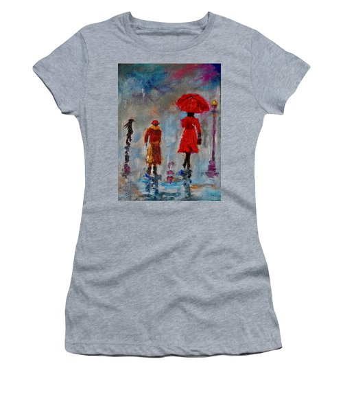 Rainy Spring Day Women's T-Shirt (Junior Cut) by Sher Nasser