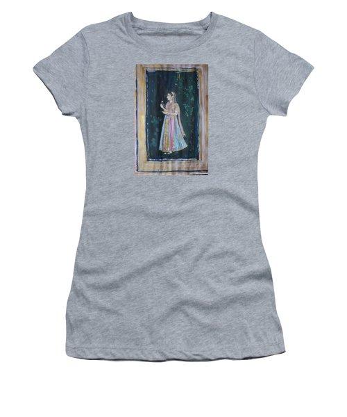 Women's T-Shirt (Junior Cut) featuring the painting Raj Kumari by Vikram Singh