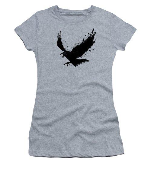 Raven Women's T-Shirt (Junior Cut) by Nicklas Gustafsson