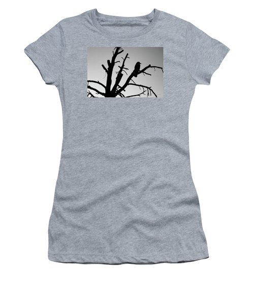 Women's T-Shirt featuring the photograph Raven Tree II Bw by David Gordon