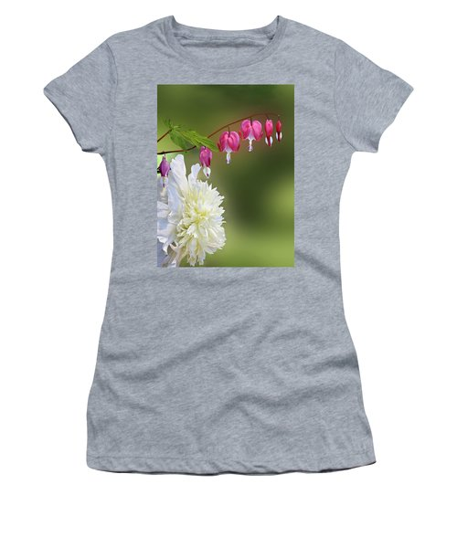 Red And White Women's T-Shirt (Athletic Fit)
