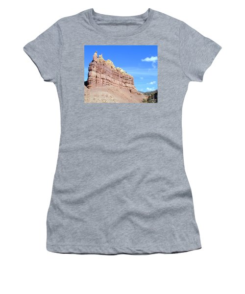Women's T-Shirt featuring the photograph Red And Yellow Fortress Number 2 by Joseph R Luciano
