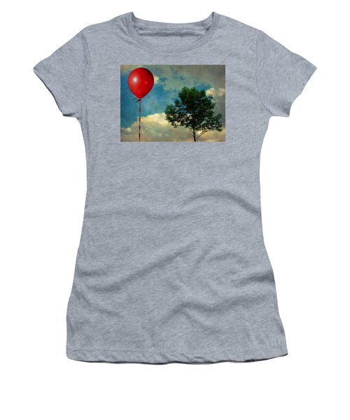 Red Balloon Women's T-Shirt (Athletic Fit)