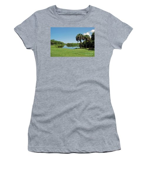 Women's T-Shirt (Athletic Fit) featuring the photograph Red Bug Slough by Gary Wonning