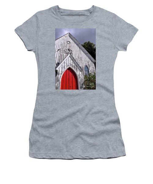Red Door Women's T-Shirt (Junior Cut) by Gina Savage