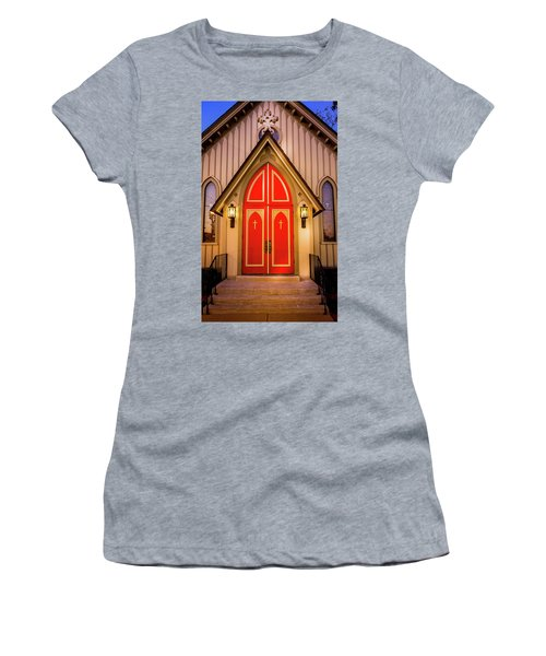 Women's T-Shirt featuring the photograph Red Doors by Allin Sorenson