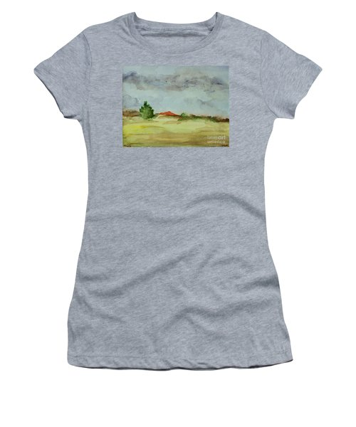 Red Hill Landscape Women's T-Shirt (Athletic Fit)