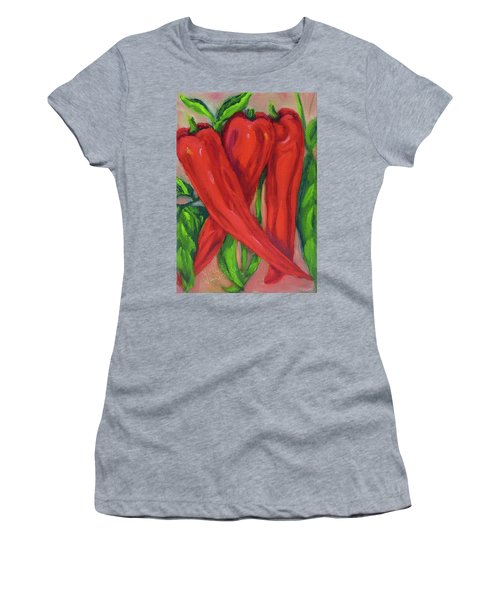 Red Hot Peppers Women's T-Shirt (Athletic Fit)