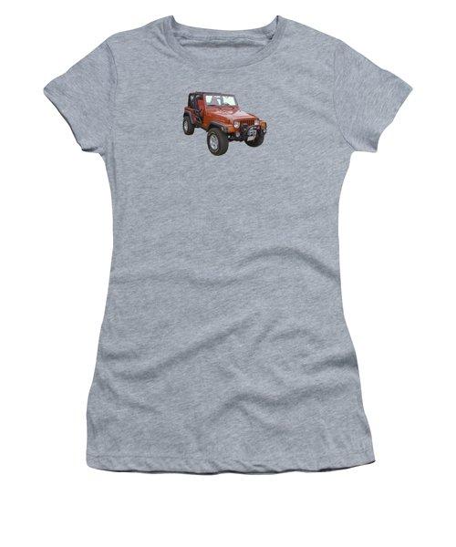 Red Jeep Wrangler Rubicon Women's T-Shirt