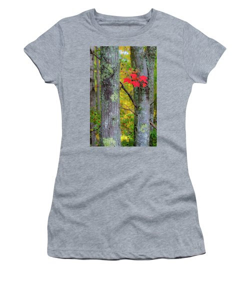 Red Leaves Women's T-Shirt (Athletic Fit)
