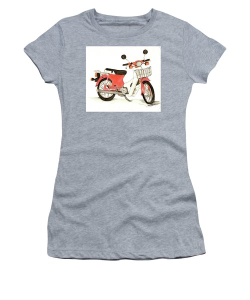 Red Motor Bike Women's T-Shirt (Athletic Fit)