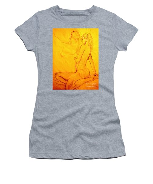Red Reflection Women's T-Shirt (Athletic Fit)
