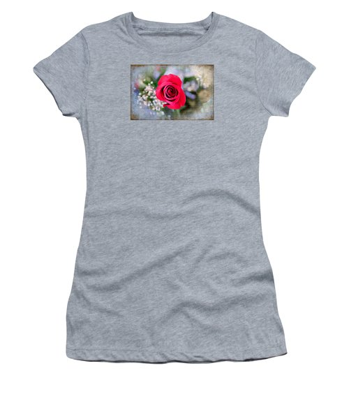 Red Rose Elegance Women's T-Shirt (Junior Cut) by Milena Ilieva