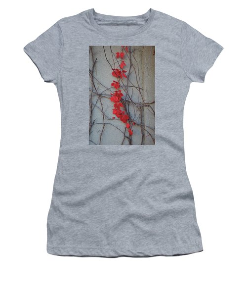 Women's T-Shirt (Athletic Fit) featuring the photograph Red Vines by David Chandler