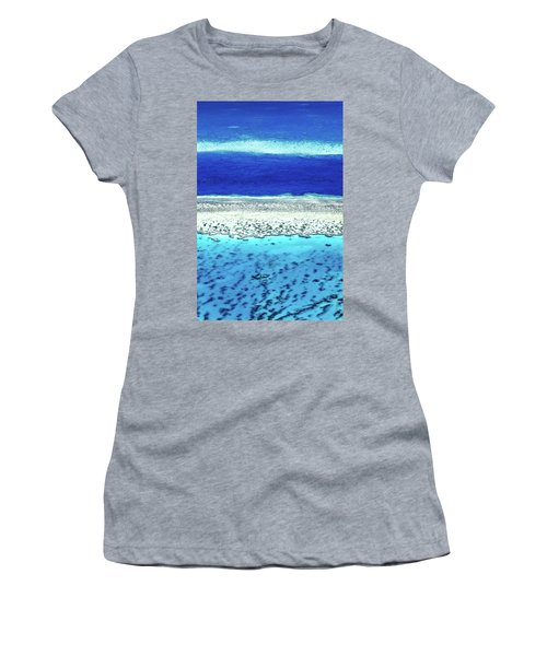 Reefs Edge Women's T-Shirt (Junior Cut) by Az Jackson