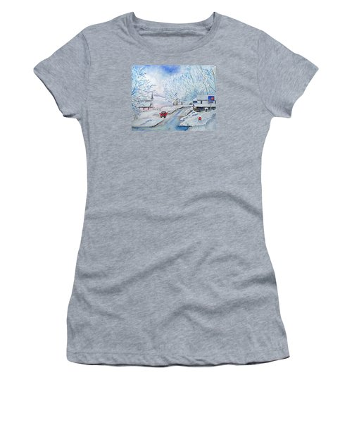 Refuge From The Storm Women's T-Shirt (Junior Cut) by Christine Lathrop