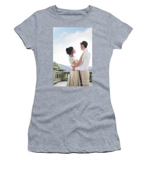 Regency Couple Embracing On The Terrace Women's T-Shirt (Athletic Fit)