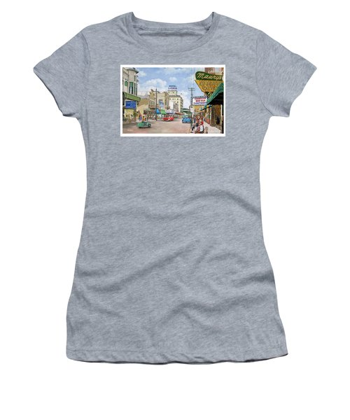 Women's T-Shirt (Junior Cut) featuring the painting Remembering Duval St. by Bob George