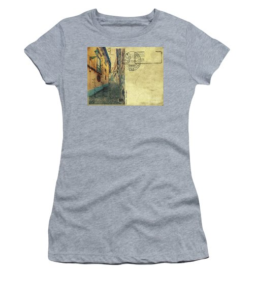 retro postcard of Porto, Portugal  Women's T-Shirt