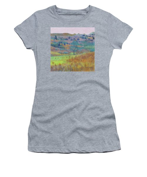 Women's T-Shirt featuring the painting Return Of Green Dream by Cris Fulton