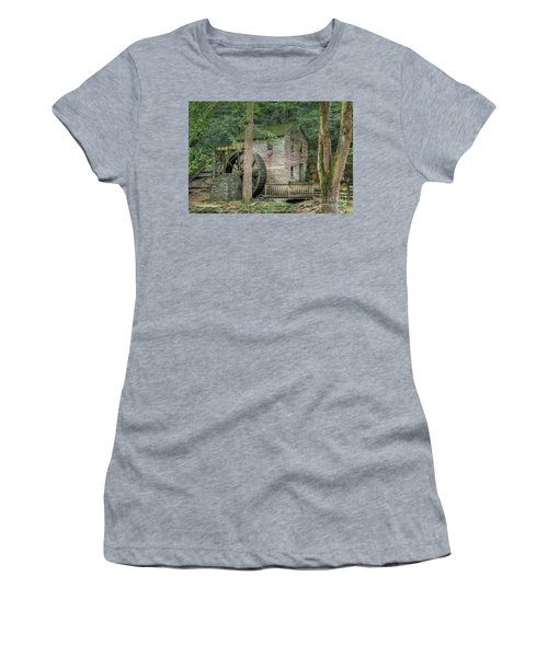 Women's T-Shirt (Athletic Fit) featuring the photograph Rice Grist Mill 2017 by Douglas Stucky
