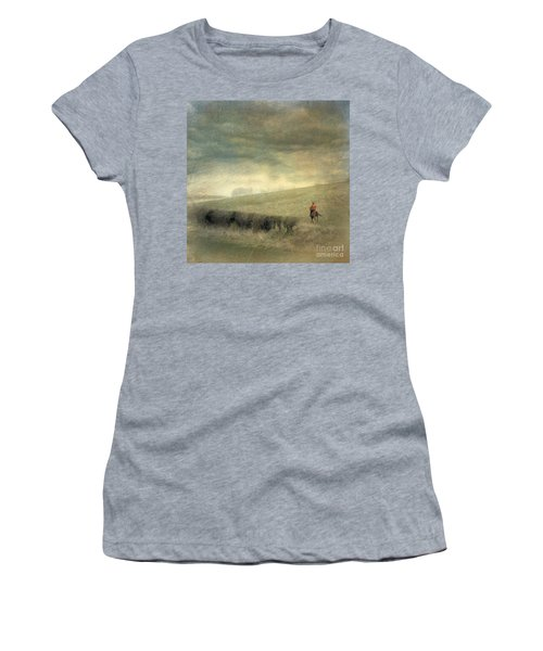 Rider In The Storm Women's T-Shirt (Junior Cut) by LemonArt Photography