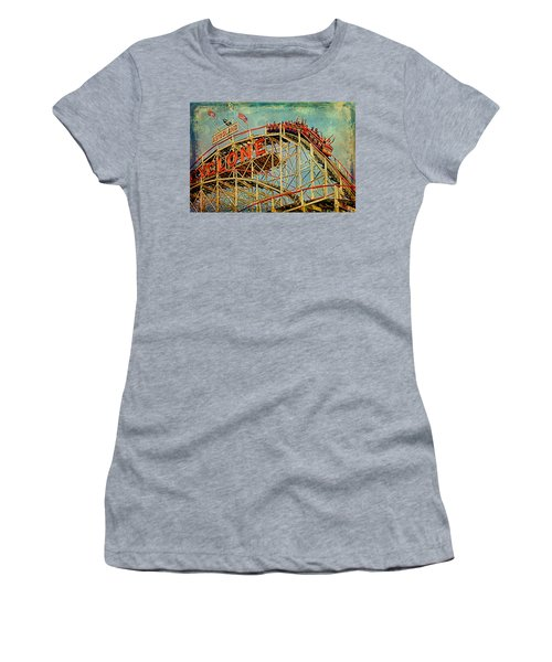 Riding The Cyclone Women's T-Shirt (Junior Cut) by Chris Lord