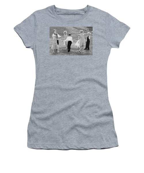 Ring Around The Rosy Women's T-Shirt (Junior Cut) by Colleen Coccia