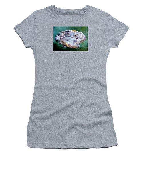 Rio Grande Cichlids Women's T-Shirt (Junior Cut) by Phyllis Beiser