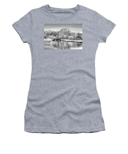 River In The Snow Women's T-Shirt