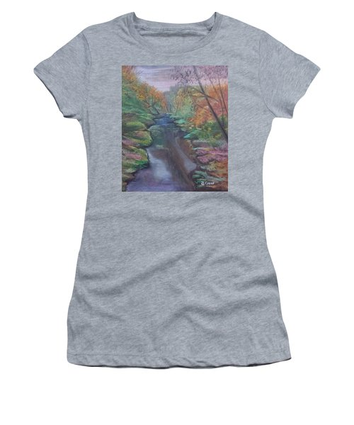 River In The Fall Women's T-Shirt