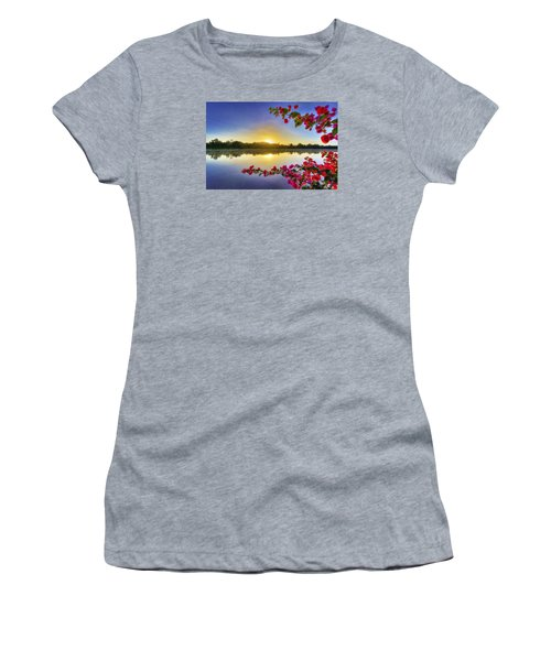 River Sunrise Women's T-Shirt (Athletic Fit)