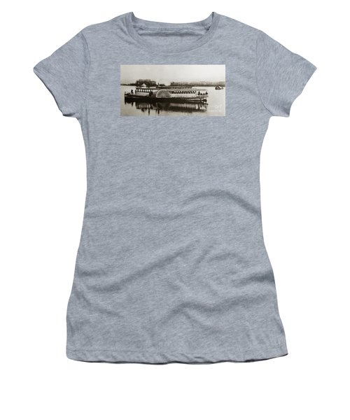 Riverboat  Mayflower Of Plymouth   Susquehanna River Near Wilkes Barre Pennsylvania Late 1800s Women's T-Shirt
